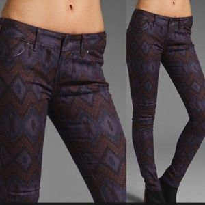 Free People cool skinny jean with tribal print.